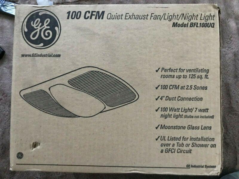 BATHROOM FAN & Light 100 CFM  BFL100UQGE ULTRA QUIETExhaust Ventilation