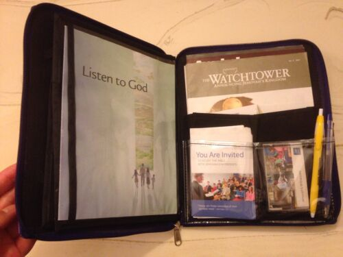 DELLA DELUXE MAGAZINE FOLDER, SOLID BLACK, Jehovah's Witnesses