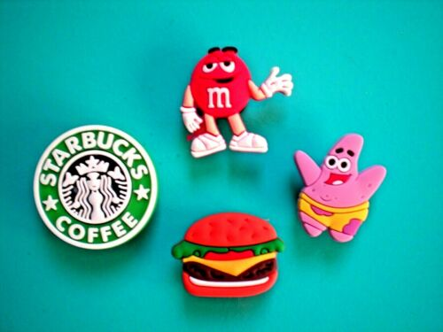 Shoe Charm Button Sandal Clog For Accessories For WristBand Burger