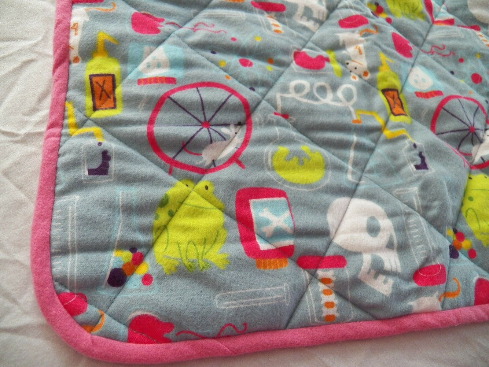 BABY CHANGING PAD Portable Diaper Travel Mat Cotton Washable Padded Handmade NEW 14