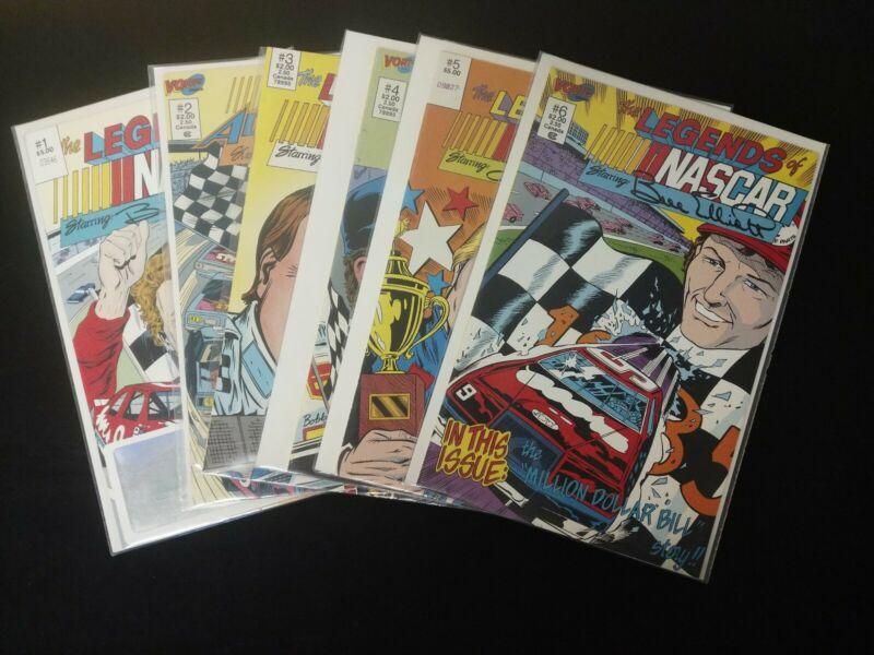 LEGENDS OF NASCAR 1-6 Serial Number Set (Vortex Comics 1990) Hologram Petty HTF
