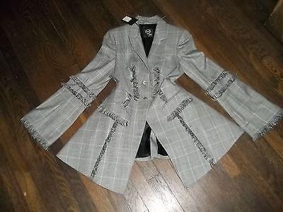 NWT Alexander McQueen ,Wool, Fringe, Peplum, ,Jacket  Size 40