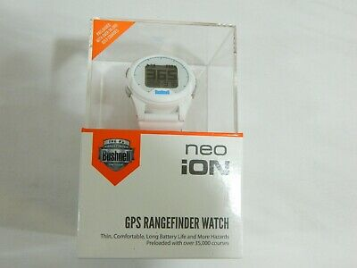 New Bushnell Golf Neo iON - White - GPS Rangefinder Watch Golf (Bushnell Neo Gps Watch)