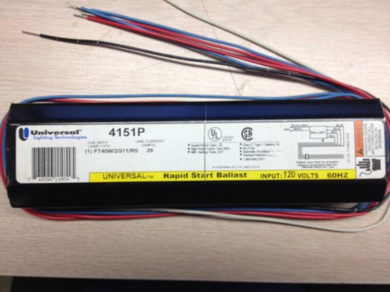 2 UNIVERSAL 4151P FOR 1 40W/2G11/RS 120V  FT40DL,PL-L40W  RAPID START BALLAST