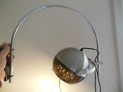 Bogenlampe Raak Amsterdam 60er 70er Lampe Chrom Alu Plexiglas