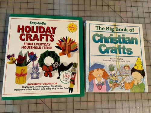 Holiday/Christian Crafts for Kids, 2 Large Books
