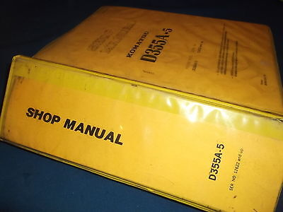Komatsu D355a 5 Crawler Tractor Dozer Bulldozer Shop Repair Service Manual