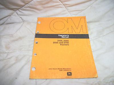 Oml60034 John Deere Owners Operators Manual 2155 2355 2555 2755 Tractor