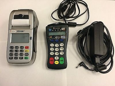 First Data Fd100ti Credit Card Machine With Pin Pad Thermal Paper Rolls