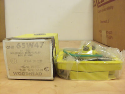 New Woodhead 65w47 Watertite 15 Amp 125v L5-15r Receptacle For Fs Box