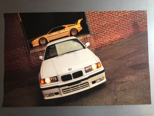 1997 BMW M3 Coupe & M1 Coupe Picture, Print, Poster RARE!! Awesome L@@K