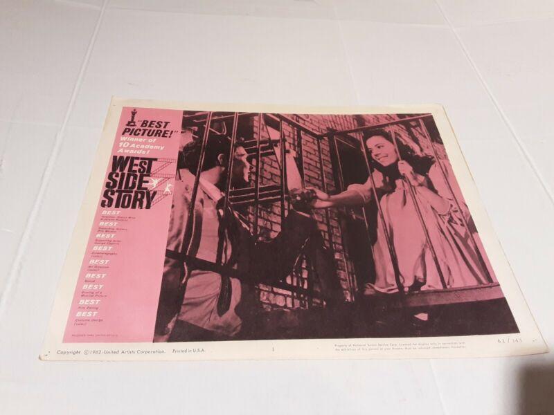 West Side Story 1962 U.S. Scene Card