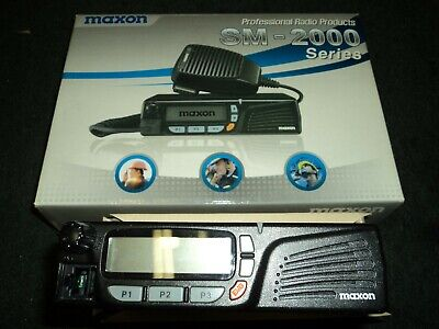 Maxon Sm-2000 Series Mobile 2 Way Radio 440 470 Mhz 208 Ch 25 Watt Brand New
