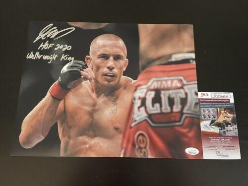 GEORGES ST-PIERRE SIGNED 11X14 PHOTO JSA COA AUTOGRAPH UFC CHAMPION 5