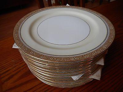 Pattern Gold Trim - Vintage Noritake Fine China Plate Nerrisa Pattern 673 Gold Trim Plate 103009 A+
