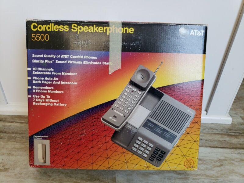 VINTAGE AT&T 5500 Cordless Speakerphone - Gray, UNTESTED -