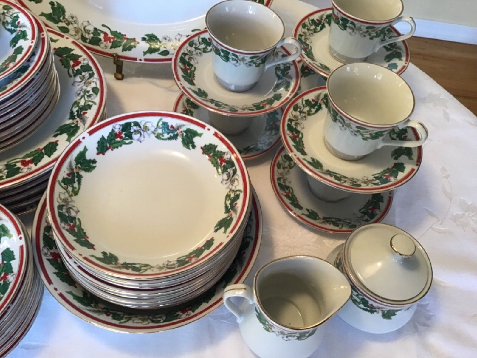 St. Maria 51 Piece Set 6 Place Sets Serving Dishes Christmas Lynn s China Denver - $149.99