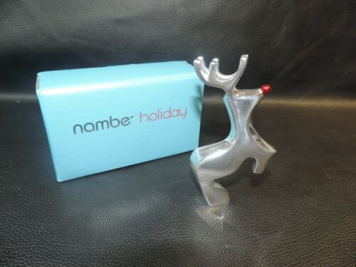 nambe Holiday Mini Red-Nosed Reindeer - Alvaro Uribe