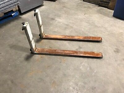 Pair Of Yale Electric Walkie Stacker Forks.