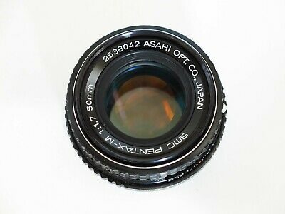 Excellent Pentax SMC Pentax-A 50mm F1.7 lens for PK mount