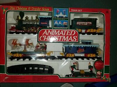 Vintage 1993 Northpole Christmas Magic Musical Animated Train Set by Toy State