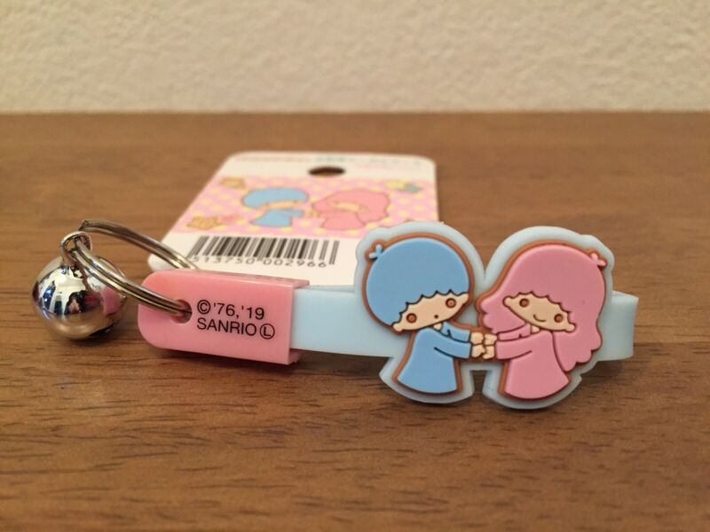Little twin stars rubber Key chain with bell SANRIO JAPAN brand new!