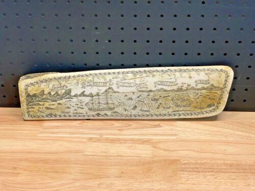 "1842 Joseph Boyle Capt. Calder Fogos/Whaler/Delta/Green PT Replica Scrimshaw 17"""