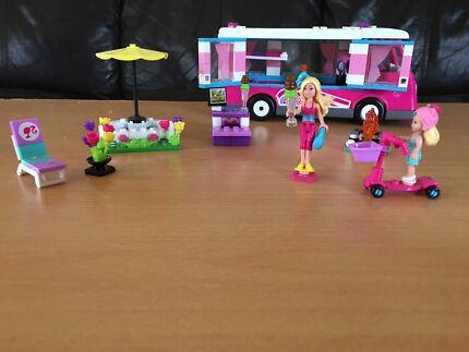 Barbie mega blocks lego luxe camper