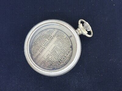 Antique INGERSOLL ECLIPSE RADIOLITE Pocket Watch Case with Papers good used