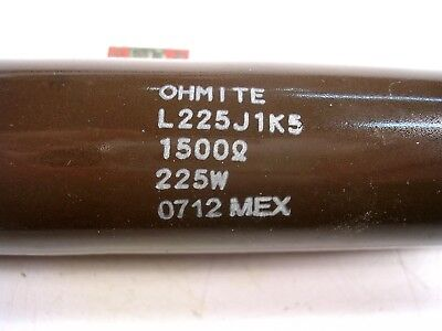 Ohmite Ww Power Resistor 225 Watts 1500 Ohms Chassis Mount Used