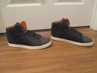 BNIB Size 11.5 Osiris Grounds High Shoes Navy Orange Cream a187d874b4
