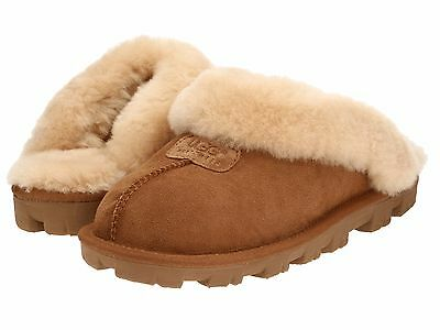 Women's Shoes UGG Coquette Sheepskin Slippers 5125 Chestnut 5 6 7 8 9 10 11*New*