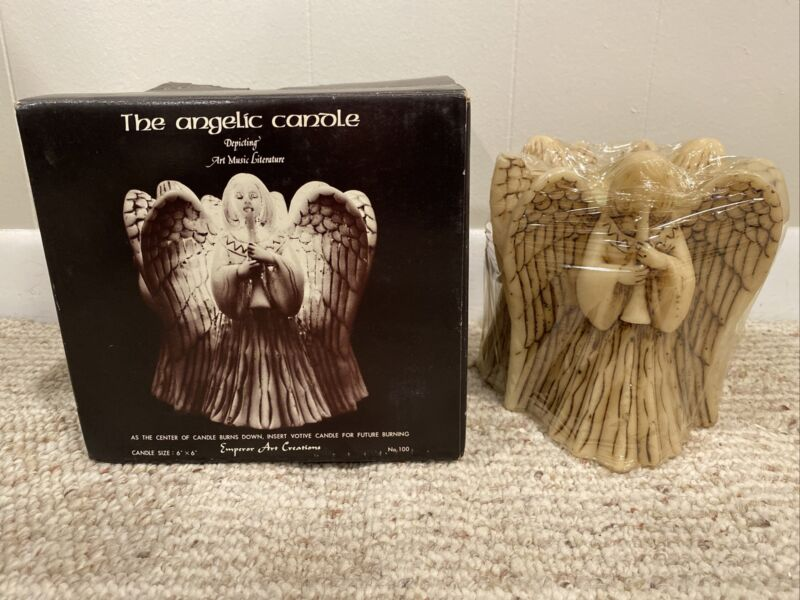 Vintage Emperor Art Creations The Angelic Candle Circle Of Angels 6 inch