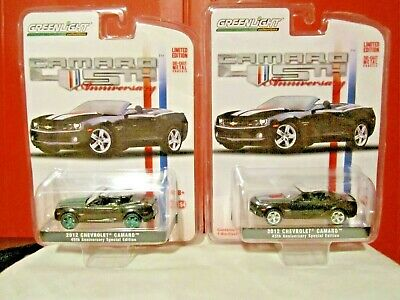 GREENLIGHT GREEN MACH.&REG. ISSUE CONSECUTIVE NUMBERED CARS CAMARO 45TH ANNIV.