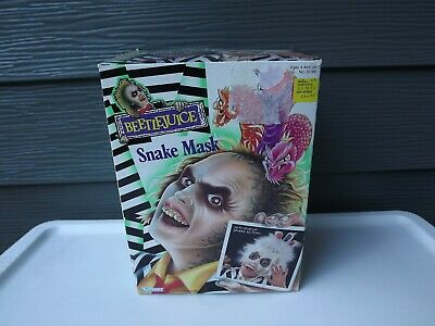 1990 Kenner Halloween Beetlejuice Snake Mask IOB](Beetlejuice Mask)