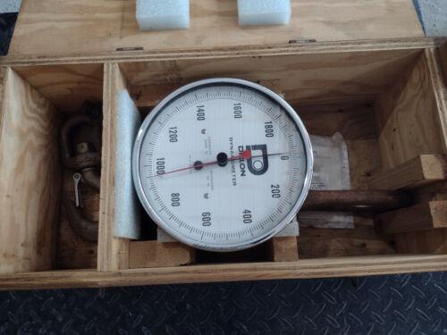 "Dillon Dynamometer / Crane Scale 30008-0033, 2000lb Capacity, 10"" Face"