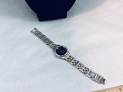 PRETTY AK ANNE KLEIN DIAMOND SS QUARTZ WATCH