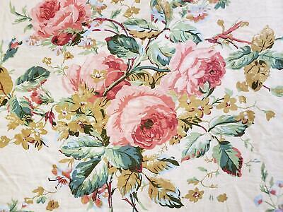 Vtg Ralph Lauren Floral Rose Bouquet Queen Size Comforter Stripe Garden Rambler Garden Queen Comforter