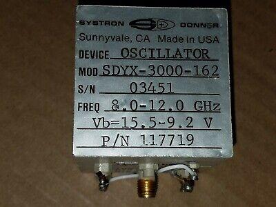 Systron Donner Sdyx-3000-162 117719 Microwave 8-12ghz Yig Tuned Oscillator 3451