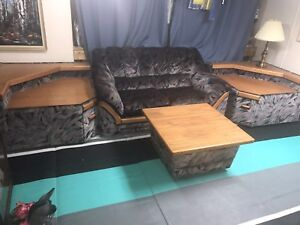 Love seat endtables and & coffee table