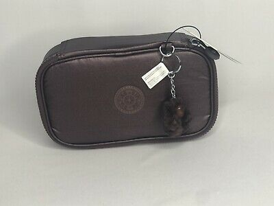 Kipling 50 Pens / Pencils Pouch Case GM Popping Purple Metalic New