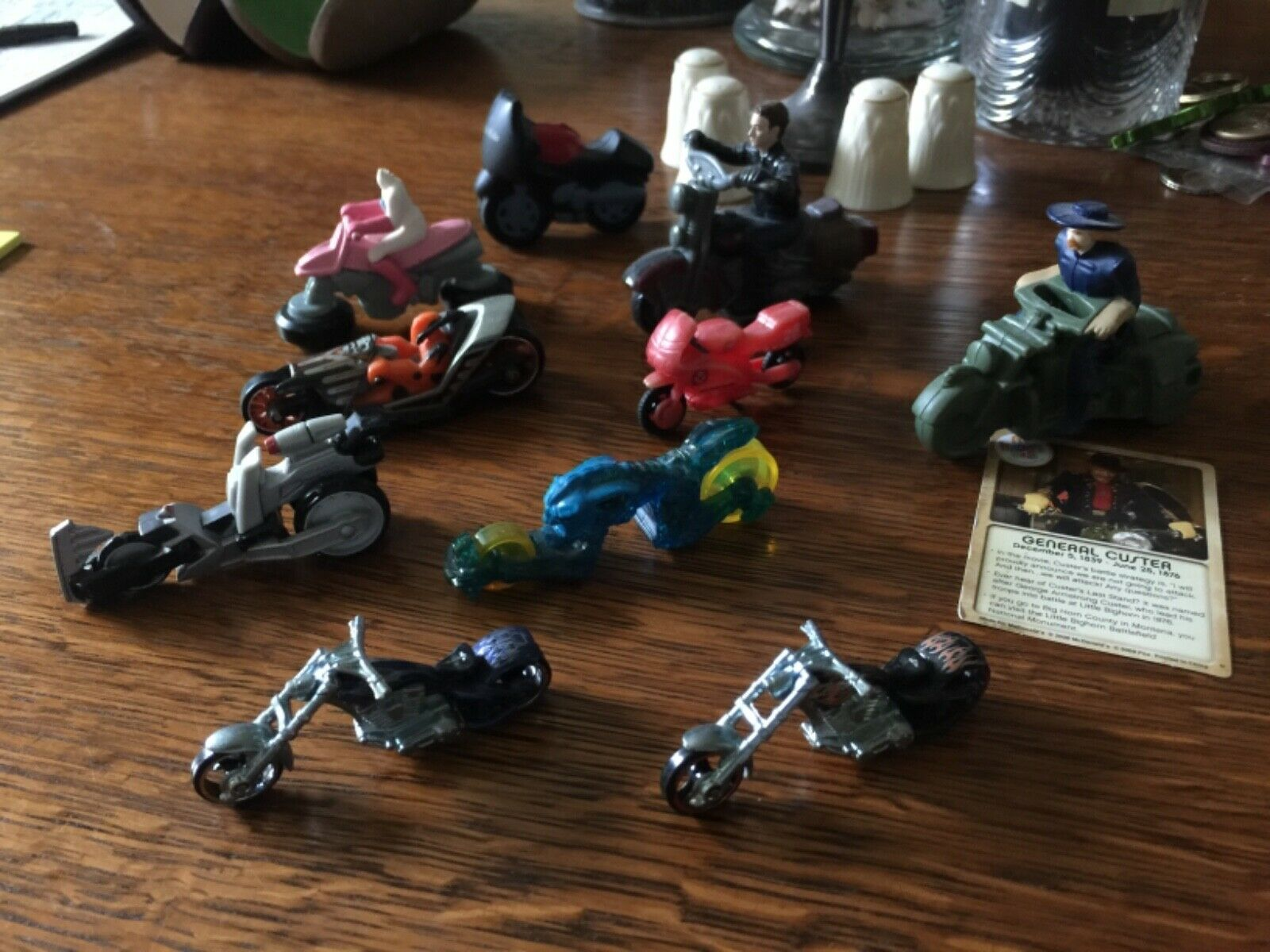 10 Toy Motorcycles McDonald Happy Meals, Hot Wheels, Terminator, Night Museum - $14.00