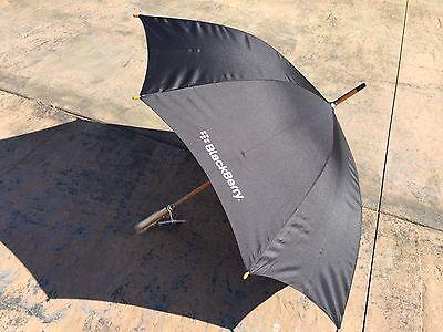 ***SALE*** BlackBerry (RIM) Logo Deluxe Auto-Open Umbrella (BLACK) *Promo*SWAG*
