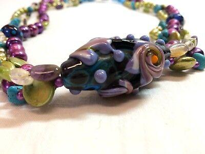 Handmade Necklace Big Bead Beaded Chunky Statement Jewelry Jewel (Handmade Necklace Jewel)