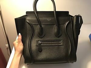 Celine Micro Luggage Tote all leather