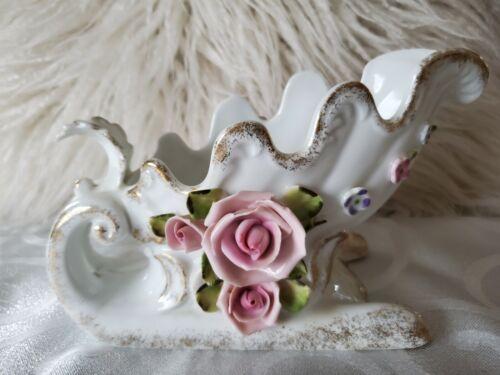 Vintage LEFTON Ceramic Christmas Sleigh Sled Planter