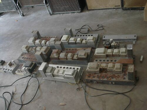 8 vintage Hammond amps for guitar amp conversion plus 2 more (10 amps)with tubes