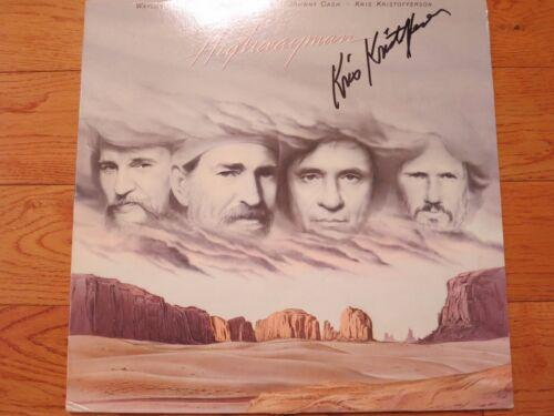 Kris Kristofferson signed lp coa + Proof! Highwaymen album autograph