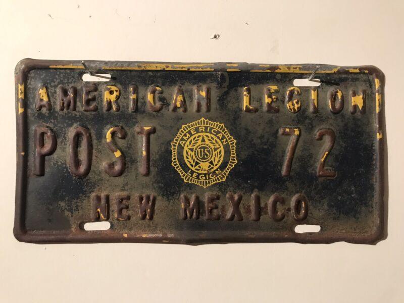 New Mexico License Plate Original And Very Rare