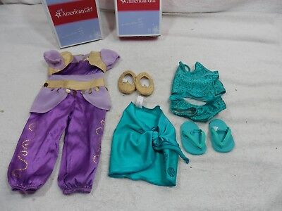 AMERICAN GIRL TANKINI AND SARONG & Genie Costume Outfit w BOX ](Girl Boxing Costume)